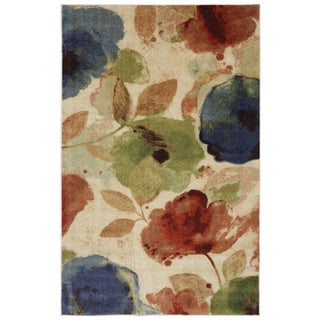 Watercolor Floral Rug (5' x 8')