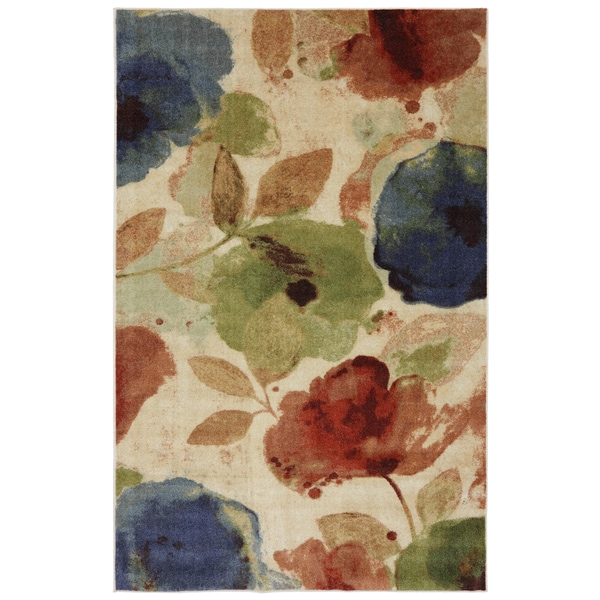 Watercolor Floral Rug 8 X 10 Free Shipping Today