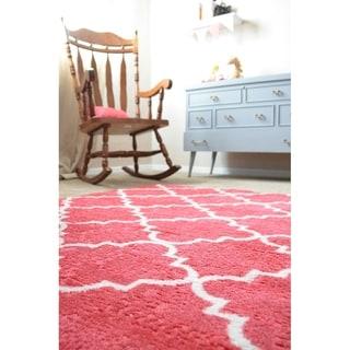Mohawk Home Strata Fancy Trellis Hot Pink (5' x 8')