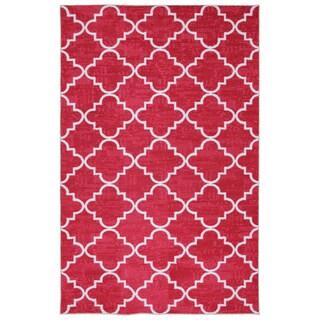 Mohawk Home Strata Fancy Trellis Hot Pink (7'6 x 10)