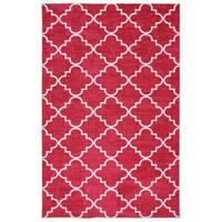 "Mohawk Home Strata Fancy Trellis Hot Pink (7'6 x 10) - 7'6"" x 10'"