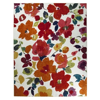 Mohawk Home Strata Bright Floral Toss Multi (5' x 8')