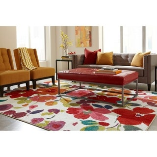 "Mohawk Strata Bright Floral Toss Area Rug (7'6 x 10') - 7'6"" x 10'"