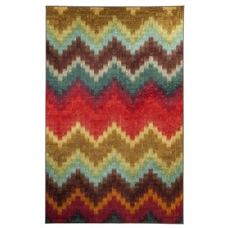 Mohawk Home Strata Painted Zig Zag Multi (5' x 8')