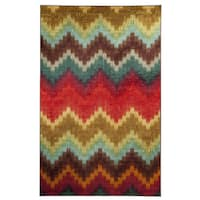 """Mohawk Home Strata Painted Zig Zag Area Rug - 7'6"""" x 10'"""