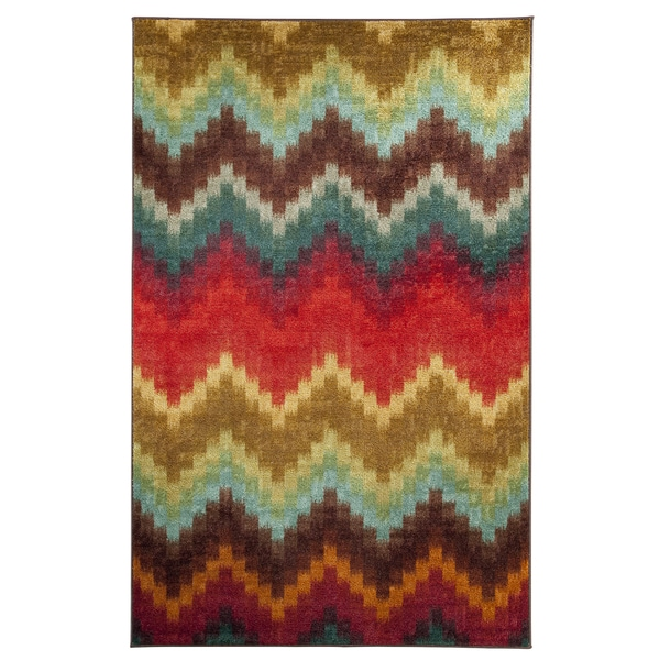 Mohawk Home Strata Painted Zig Zag Area Rug (7'6 x 10')