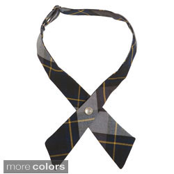 French Toast Girls Adjustable Plaid Cross Tie