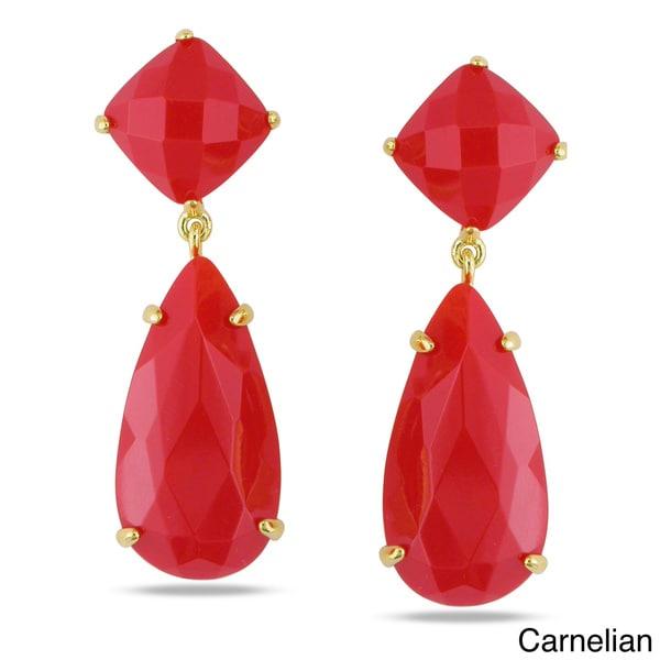 Miadora Gemstone Dangle Earrings