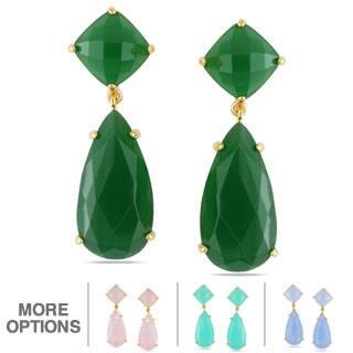 Miadora Gemstone Dangle Earrings https://ak1.ostkcdn.com/images/products/8279003/Miadora-Gemstone-Dangle-Earrings-P15600064v.jpg?impolicy=medium