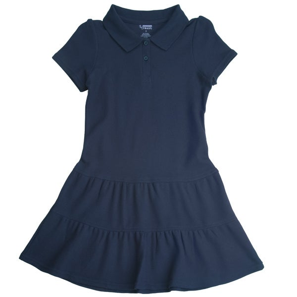 French Toast Girls Ruffled Pique Polo Dress