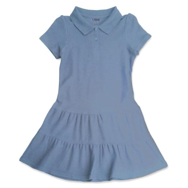 French Toast Little Girls Ruffled Pique Dress