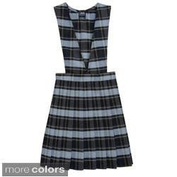 French Toast Girls V-neck Pleated Plaid Jumper|https://ak1.ostkcdn.com/images/products/8279052/French-Toast-Girls-V-neck-Pleated-Plaid-Jumper-P15600090.jpg?impolicy=medium