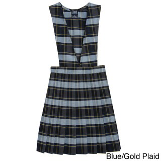French Toast Girls V-neck Pleated Plaid Jumper (2 options available)