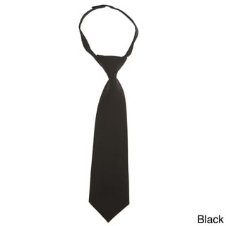 French Toast Boys 8-12 Adjustable Solid Color Tie