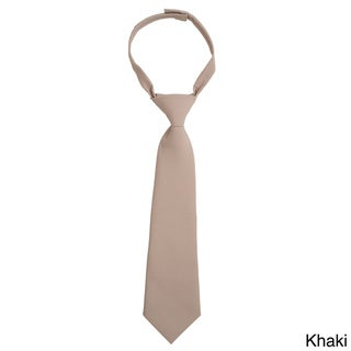 French Toast Boys 4-7 Adjustable Solid Color Tie