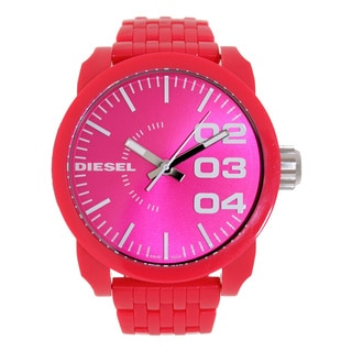 Diesel Men's DZ1573 Pink Plastic Quartz Watch