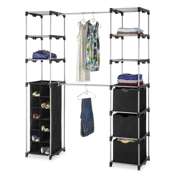 Whitmor 6779 4511 Double Rod Closet Organizer