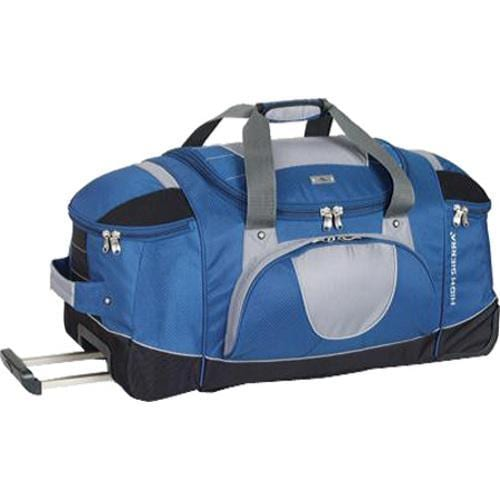 0be012039624 Thumbnail High Sierra 26in Wheeled Duffel with Backpack Straps Blue  Yonder Tungsten Black