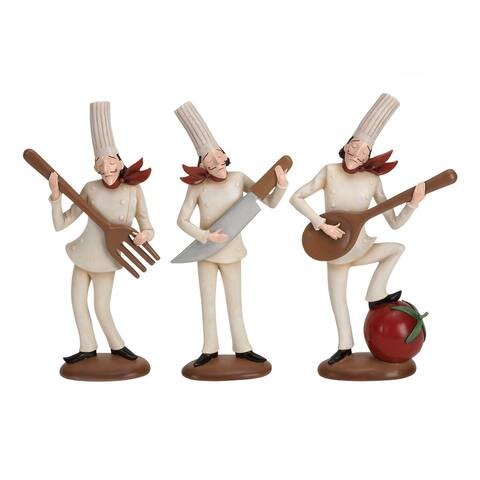 Polystone Assorted Chef Figurines (Set of 3)