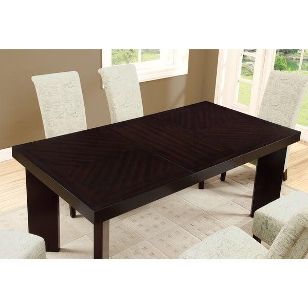 Dark Espresso Veneer Top Dining Table