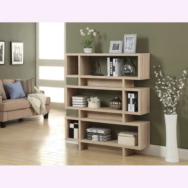 Shop Natural Reclaimed Look Modern Bookcase Free Shipping Today Overstock 8280710