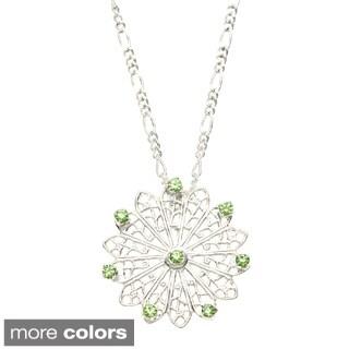 Detti Originals Filigree and White Crystal Necklace