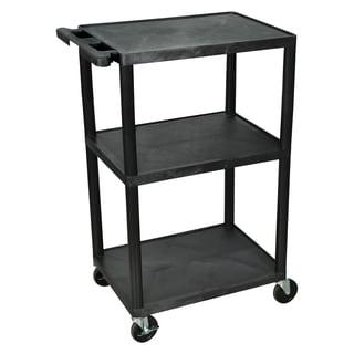 Offex Multi-height 3-shelf A/V Cart