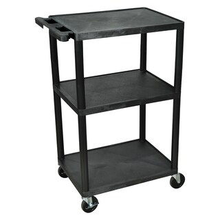 Offex Multi-height 3-shelf A/V Cart
