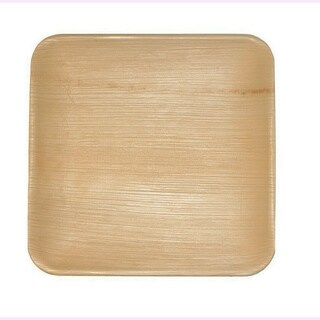 Leaf & Fiber's Compostable Palm Leaf Plates - Square (Pack of 100) (2 options available)