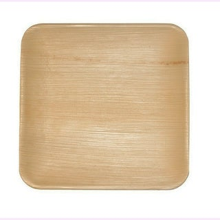 Leaf & Fiber's Compostable Palm Leaf Plates - Square (Pack of 100)