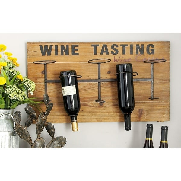 Shop Farmhouse 15 X 26 Inch Rectangular Wooden Wall Wine Rack By