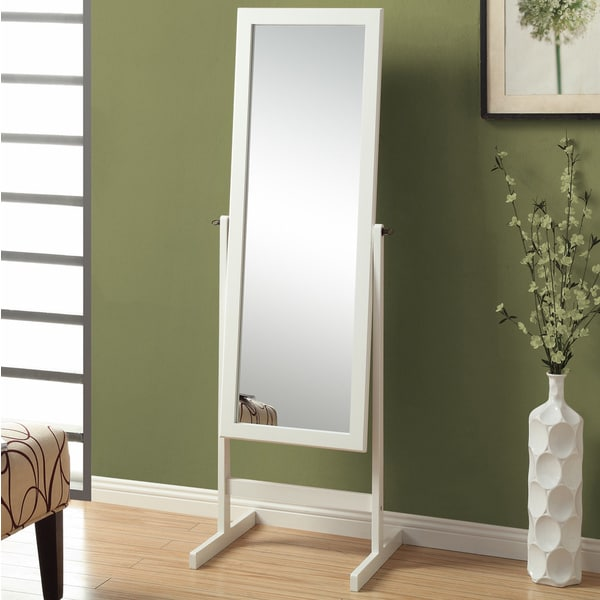 Shop White Cheval Mirror Free Shipping Today Overstock