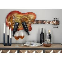 Eclectic 17 x 41 Inch Guitar Iron Wall-Mounted Wine Rack by Studio 350