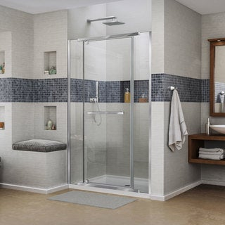 DreamLine Vitreo X Frameless Pivot Shower Door And SlimLine 36 In. By 48 In