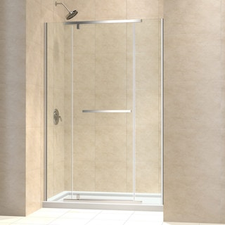 DreamLine Vitreo-X Frameless Pivot Shower Door and SlimLine 30 x 60-inch Single Threshold Shower Base