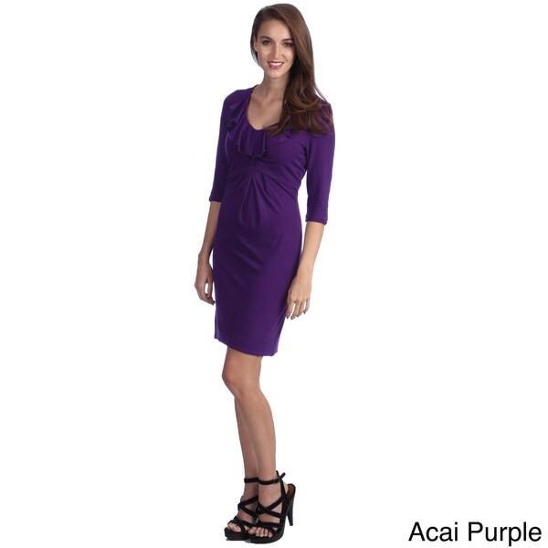 Amelia Women's Ruffle Front Knit Dress