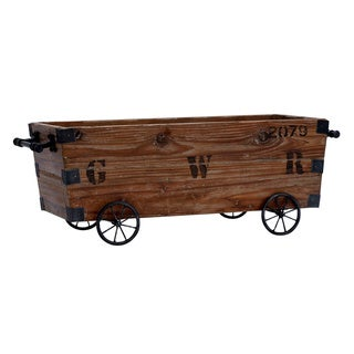 Wood Cart and Storage Crate
