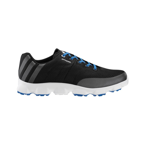 Adidas Men's Crossflex Black/ Grey/ Blue Golf Shoes