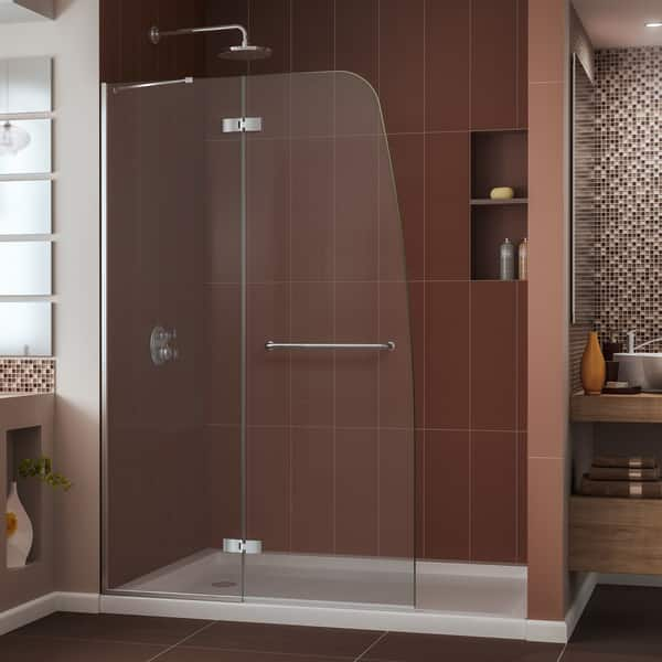 Dreamline Aqua Ultra 36 In D X 48 In W X 74 3 4 In H Hinged Shower Door And Shower Base Kit 36 X 48 36 X 48 Overstock 8281121