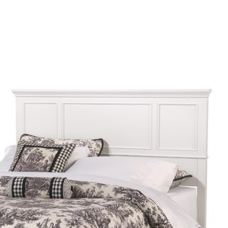 Naples White King Headboard by Home Styles