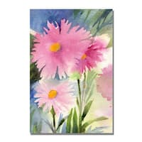 Shelia Golden 'Aster Shadow' Canvas Art - Multi