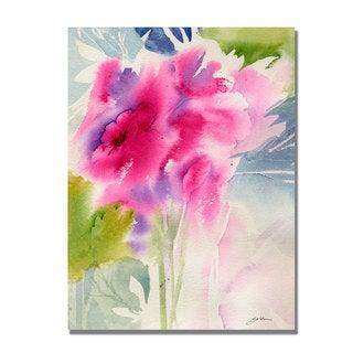 Shelia Golden 'Cerise Garden' Canvas Art