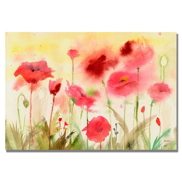 Shelia Golden 'Poppy Field' Canvas Art