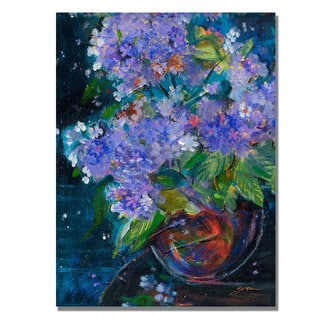 Shelia Golden 'Bouquet in Violet' Canvas Art