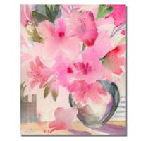 Shelia Golden 'Pink Azaleas' Canvas Art