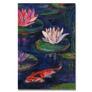 Shelia Golden 'The Lily Pond' Canvas Art