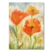 Shelia Golden 'Field of Poppies' Canvas Art
