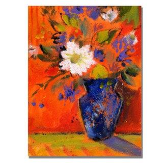 Shelia Golden 'Orange Wall' Canvas Art