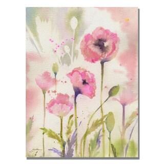 Shelia Golden 'Oriental Poppy Garden' Canvas Art