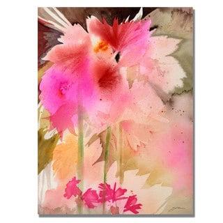 Shelia Golden 'Pink Garden' Canvas Art